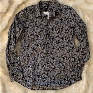 NWT Men's H&M Floral Slim Fit Button Down